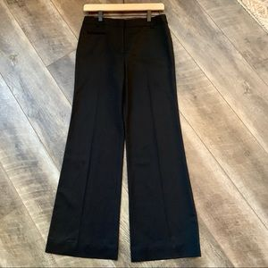 BCBGMaxAzria Black Pinstripe Wide Leg Dress Pants
